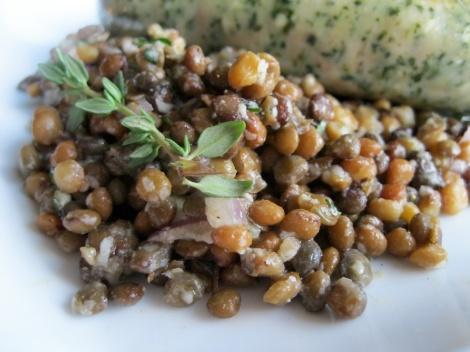 Lentil, vegetarian, thyme, Parmigiano Reggiano, olive oil, picnic,