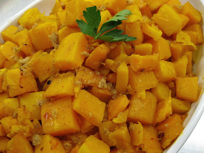 ginger, sweet, spicy, squash, butternut-squash, roast, brown-sugar