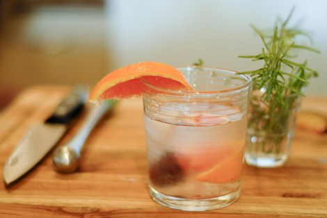 plum orange mocktail