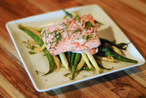 King Salmon with Heirloom Beans