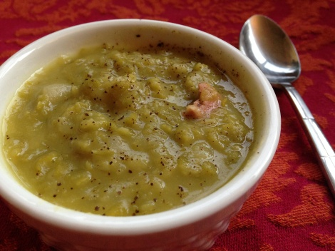 warming, soup, split-pea, ham-hock, homemade-stock, easy, weeknight, dinner